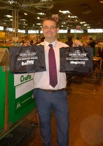 Kirk Moss Had an enjoyable day at crufts  Collected my awards for Top Giant and Top Breeder 2013  Hence the smiley face    Couldn't have done it without Michelle Heinz and karen Carroll thankyou ladies xxx